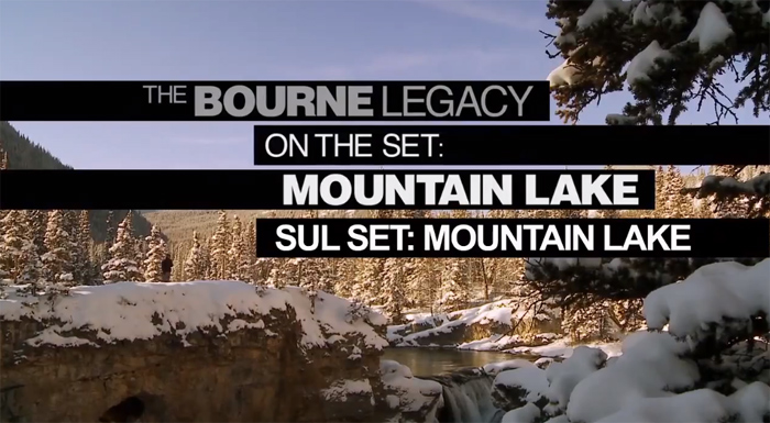 image Featurette Sul set del lago in montagna - The Bourne Legacy
