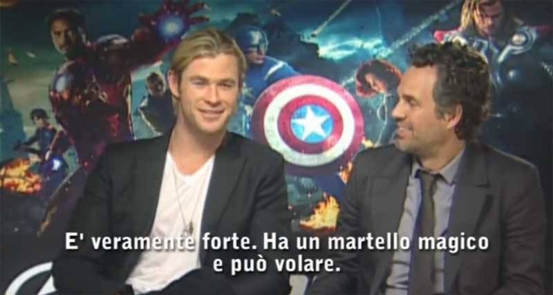 image Featurette Thor e Hulk - The Avengers