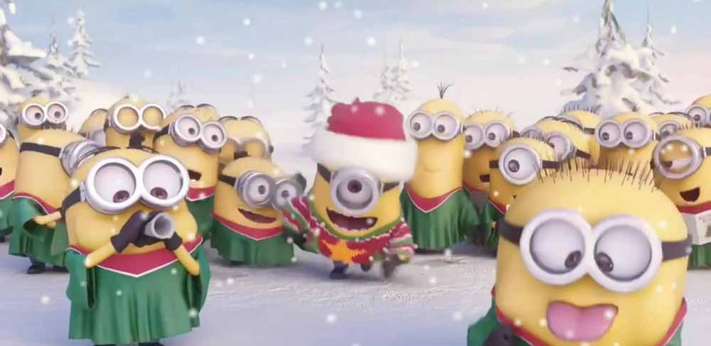 image Minions cantano Jingle Bells - Merry Christmas 2014