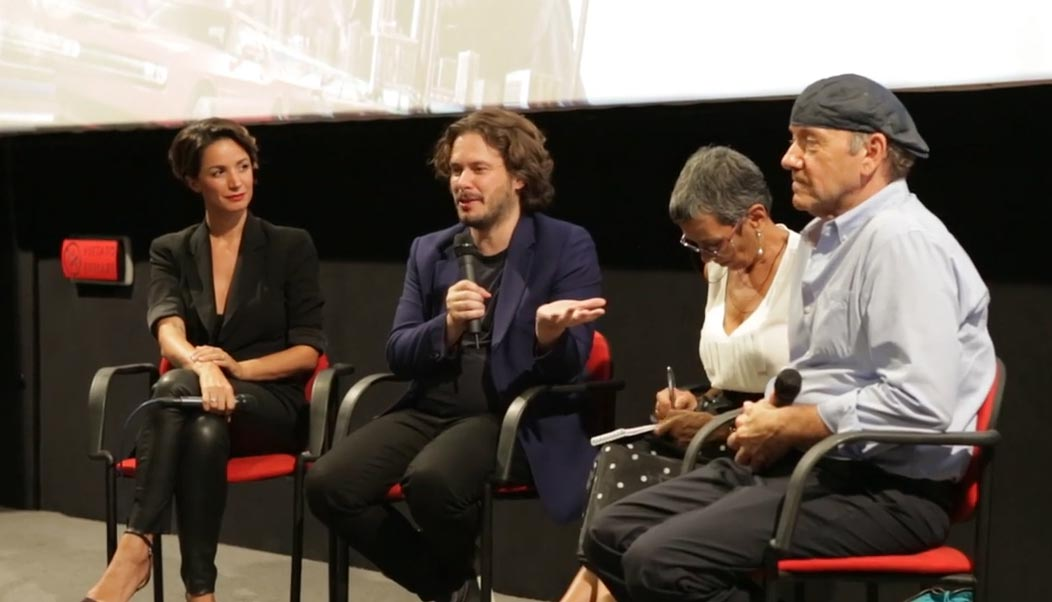 image Baby Driver, Kevin Spacey e Edgar Wright a Roma