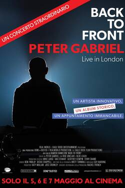 Locandina Back To Front - Peter Gabriel Live in London