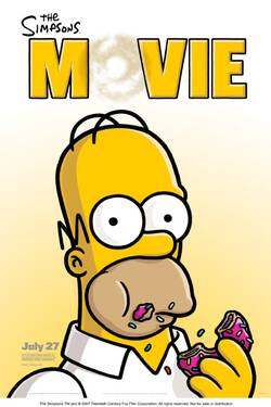 Locandina The Simpsons Movie