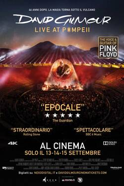 Locandina David Gilmour Live At Pompeii