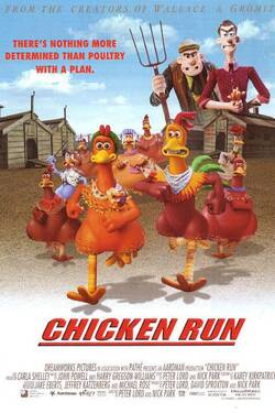 Locandina Galline in fuga Chicken Run 2000