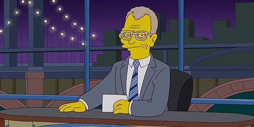 I Simpson omaggiano David Letterman