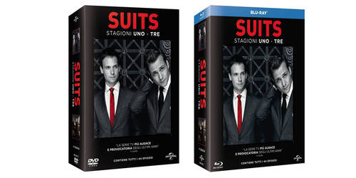 Suits - Stagioni 1-2-3 in boxset DVD, Blu-ray