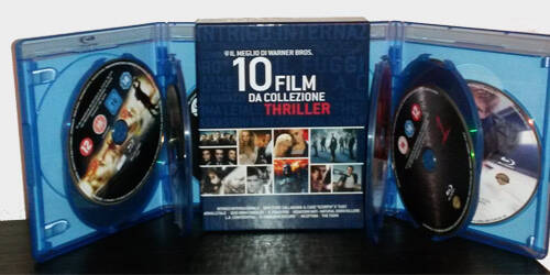 Il Cofanetto 10 Film Thriller Warner Blu-ray