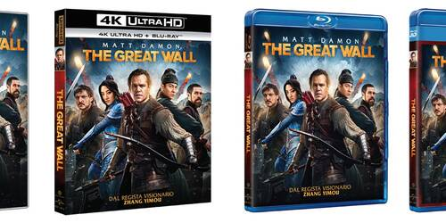 The Great Wall con Matt Damon in DVD, Blu-ray, 4k Ultra HD e Digitale
