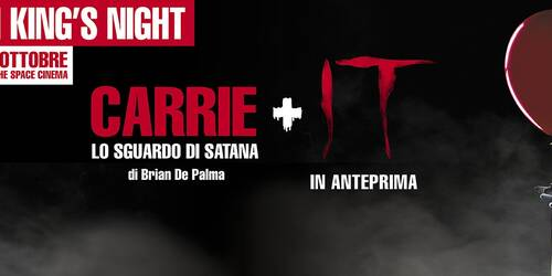 Stephen King's Night con Carrie - Lo sguardo di Satana e IT da The Space Cinema