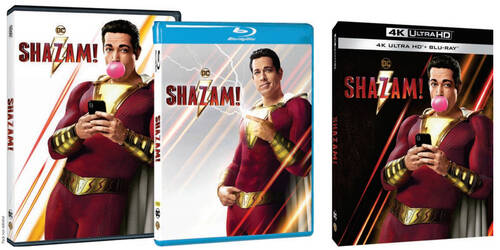 Shazam! con Zachary Levi in homevideo
