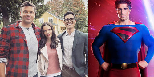 Superman Tyler Hoechlin, Tom Welling e Brandon Routh