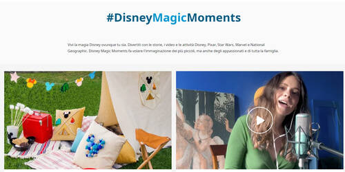 Disney Magic Moments per  la Croce Rossa Italiana