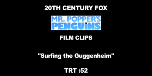 Clip 'Surfing The Guggenheim' - I Pinguini di Mr. Popper