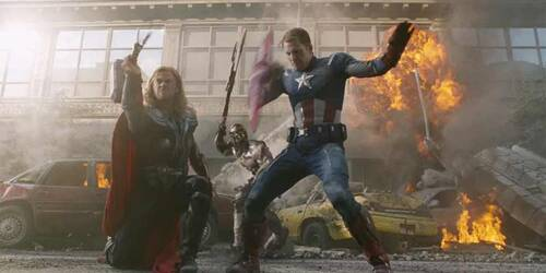 Clip Captain America e Thor in battaglia - The Avengers
