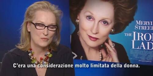 Intervista Meryl Streep - The Iron lady