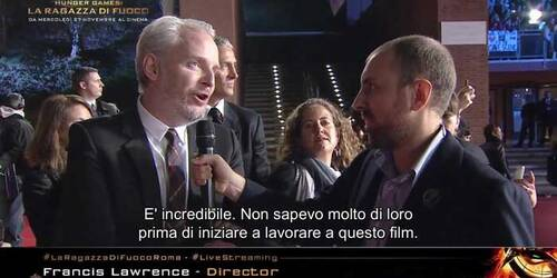 Intervista a Francis Lawrence sul red carpet di Roma - Hunger Games: La Ragazza di Fuoco