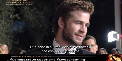 Intervista a Liam Hemsworth sul red carpet di Roma - Hunger Games: La Ragazza di Fuoco