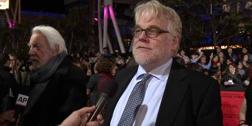 Intervista Philip Seymore Hoffman - Premiere Los Angeles - Hunger Games: La ragazza di fuoco