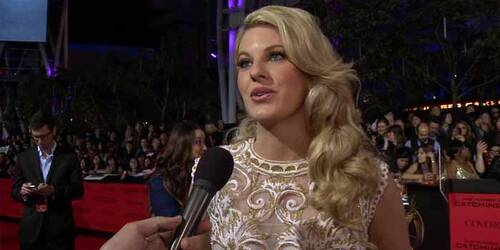 Intervista Stephanie Leigh Schlund - Premiere Los Angeles - Hunger Games: La ragazza di fuoco