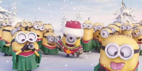 Minions cantano Jingle Bells - Merry Christmas 2014