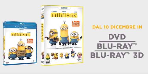 Minions - Promo HomeVideo in Blu-ray, DVD e Blu-ray 3D