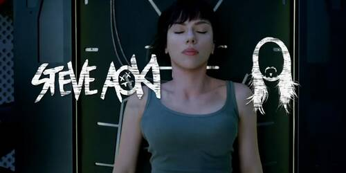 Ghost in the Shell con Scarlett Johansson - Remix di Steve Aoki