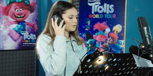 Trolls World Tour, Video del doppiaggio italiano